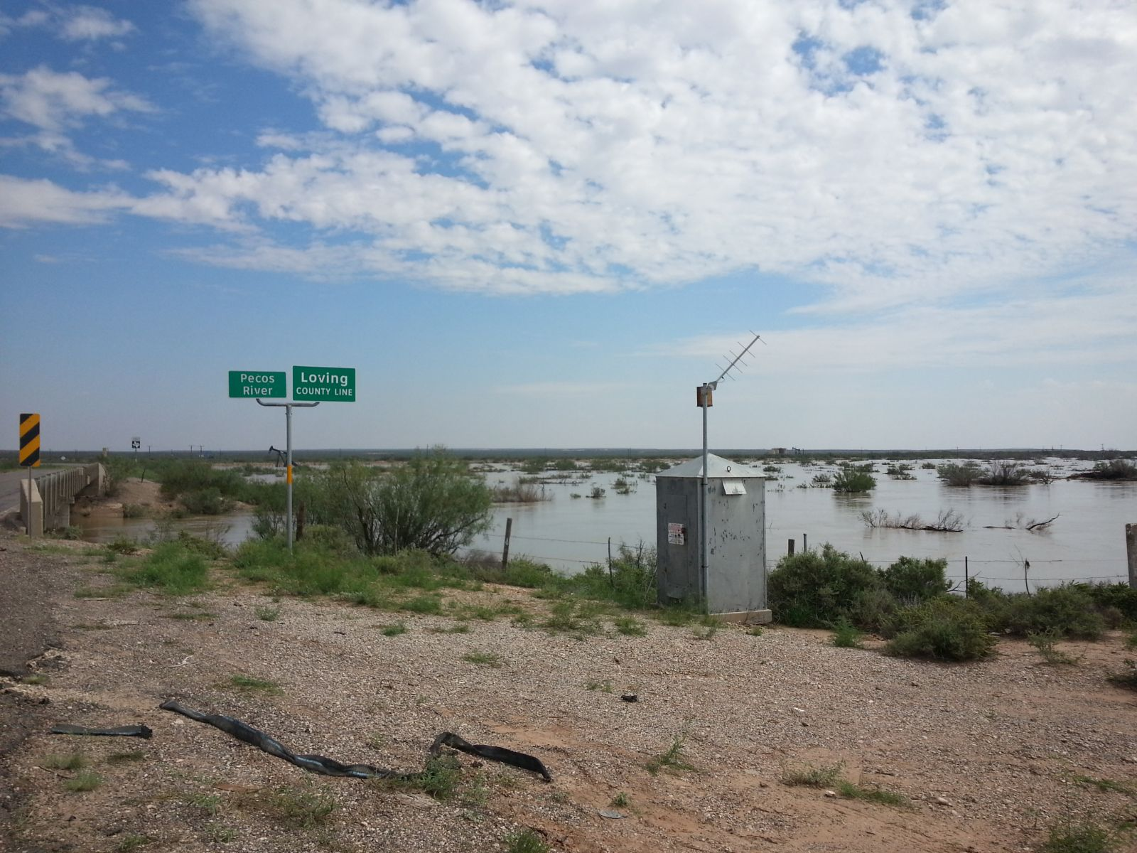 Several views of the swelling Pecos River between Red Bluff Reservoir and the town of Pecos on September 24, 2014.