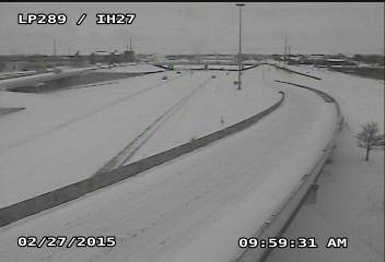 Interstate-27 and Loop 289 in south Lubbock at 9:59 am on February 27, 2015. The image is courtesy of TXDOT.
