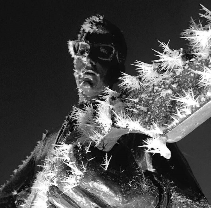 The riming was not limited to trees, but formed on nearly any exposed surface. Here is an image of what the prolonged period of freezing fog did to the Buddy Holly statue located in downtown Lubbock. The image is courtesy of Visit Lubbock.