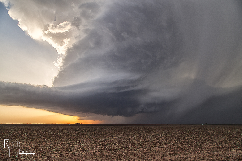 Image captured by Roger Hill near Lockney, TX, Wednesday evening. The picture shows the amazing structure of the supercell storm.