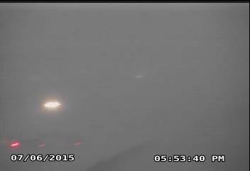 TXDOT webcam near Loop 289 and University Avenue shortly before 6 pm on 7 July 2015.