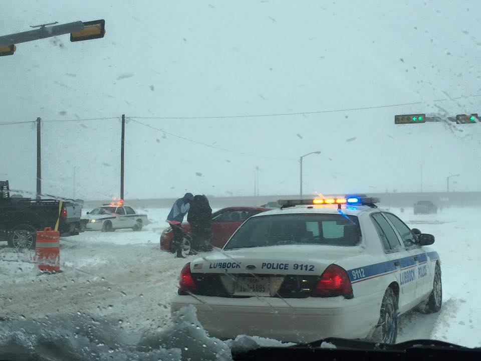 The heavy snow and drifting made travel difficult to impossible. Picture courtesy of KAMC.