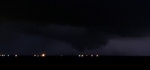 Wall cloud associated with and intense thunderstorm near Anton, Texas, during the late evening of 30 May 2016. The image was taken by Bruce Haynie.