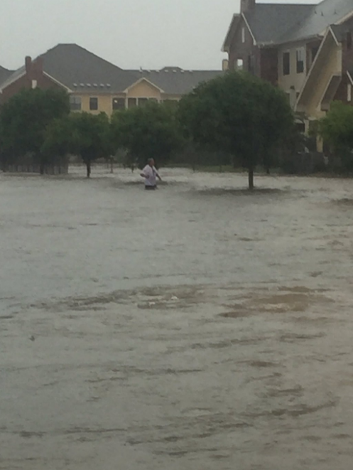 Picture of flooding around southwest Lubbock on 1 June 2016. This picture is courtesy of Hector Iafuente.