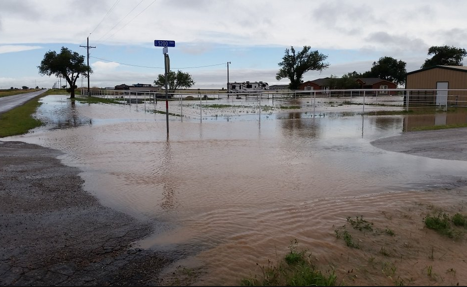 Flooding that occurred along FM 179 and the County line on 1 June 2016. The picture is courtesy of John Greene. on 30 May 2016. The picture is from Tim Berry.