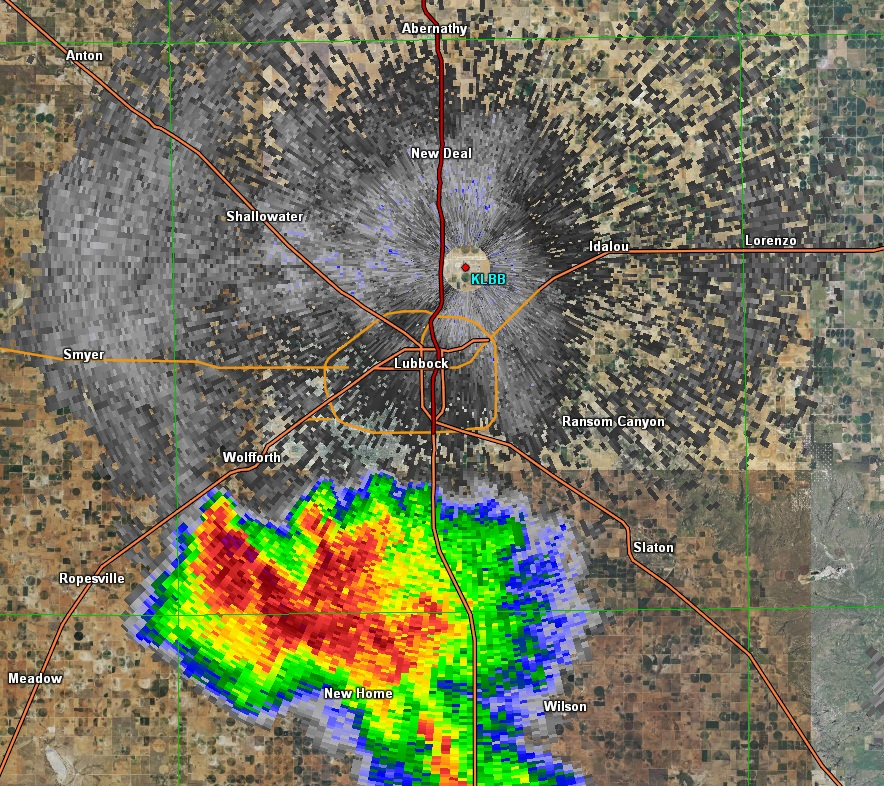 Radar image from Lubbock Tuesday afternoon
