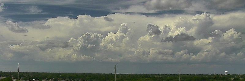 A line of storms to the northwest of Lubbock on Wednesday, August 24th