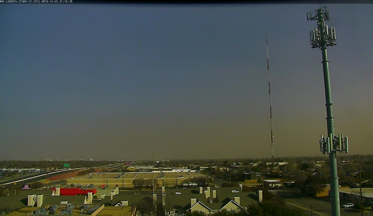 Picture of brown skies across the Lubbock area on the afternoon of Sunday, December 25th, 2016