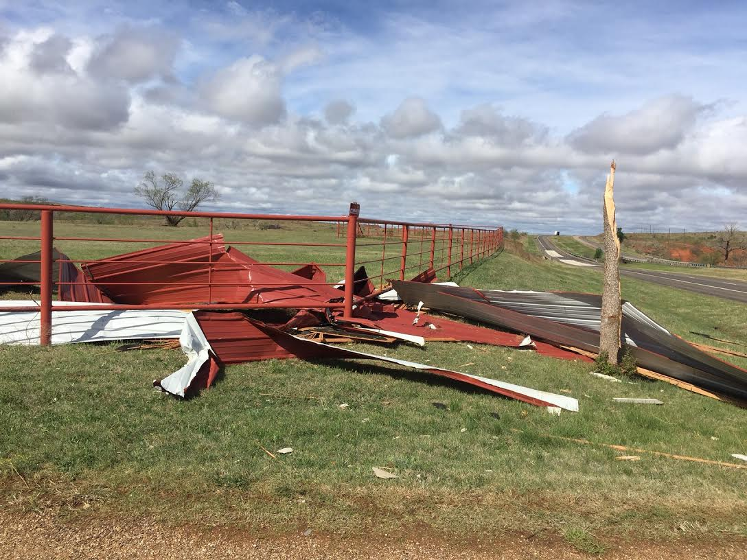 Damage at the Pitchfork Ranch by an EF-1 Tornado.