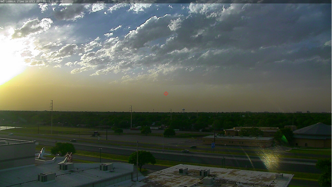 Dust along a cold front moving into Lubbock Tuesday evening (16 May 2017).