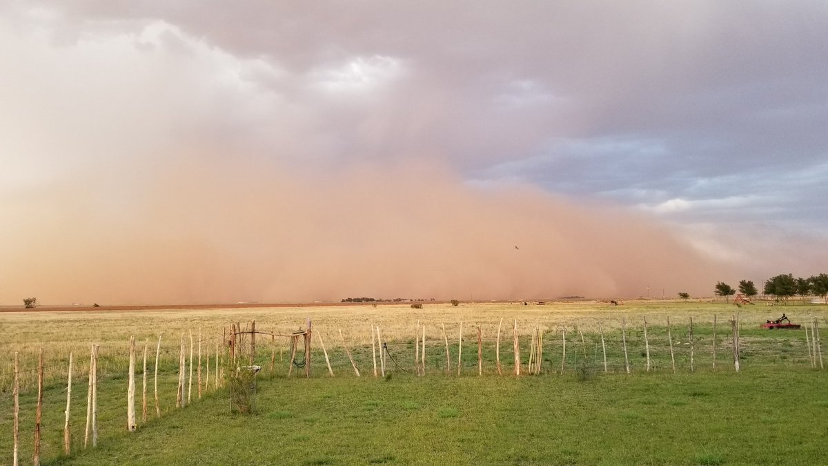 Haboob near Slaton on the evening of June 7th. The picture is courtesy of Mark Ethridge.