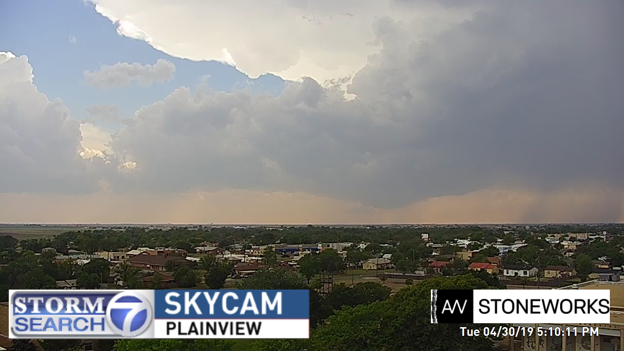 View of storm from Plainview Tuesday evening (30 April 2019). The image is courtesy of Storm Search 7.