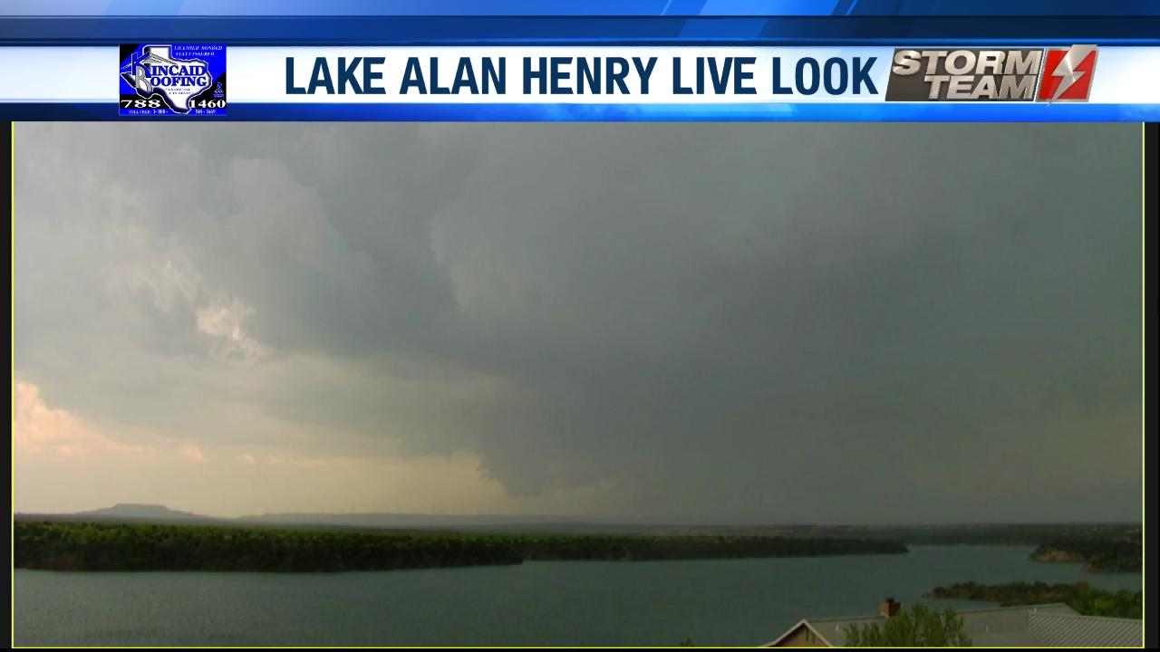 View of storm near Lake Alan Henry on Tuesday afternoon (30 April 2019). The image is courtesy of KAMC.