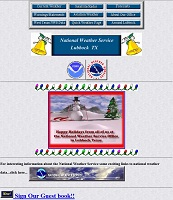 Image of NWS Lubbock's first website in 1996.