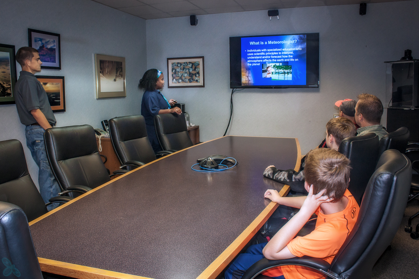 NWS Lubbock meteorologists give a few different presentations about the National Weather Service.