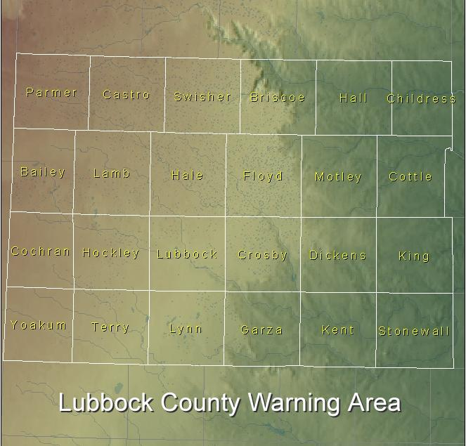 Lubbock National Weather Service coverage area