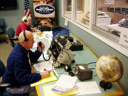 Example of a Skywarn radio operator