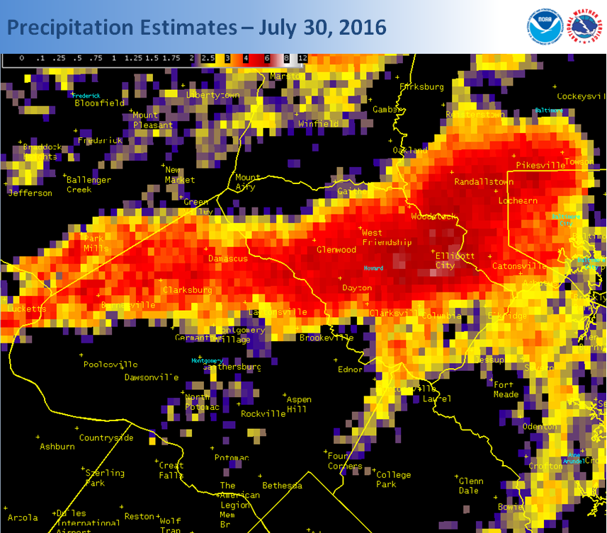 rainfall estimates from July 30th
