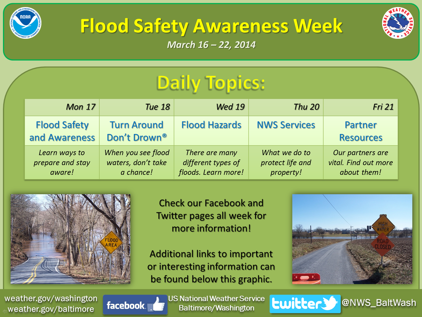 Flood Safety Awareness Week 2014