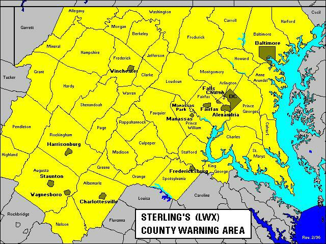 NWS Sterling, VA   Online Tour   Introduction/Overview