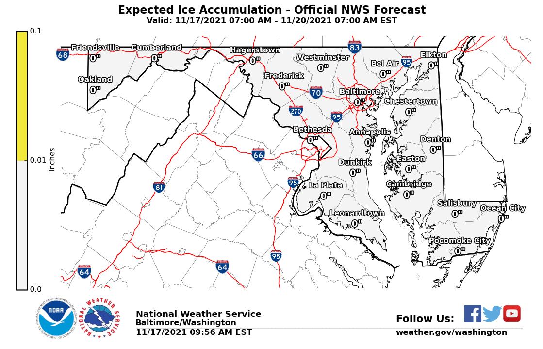 Maryland Ice Accumulation Forecast