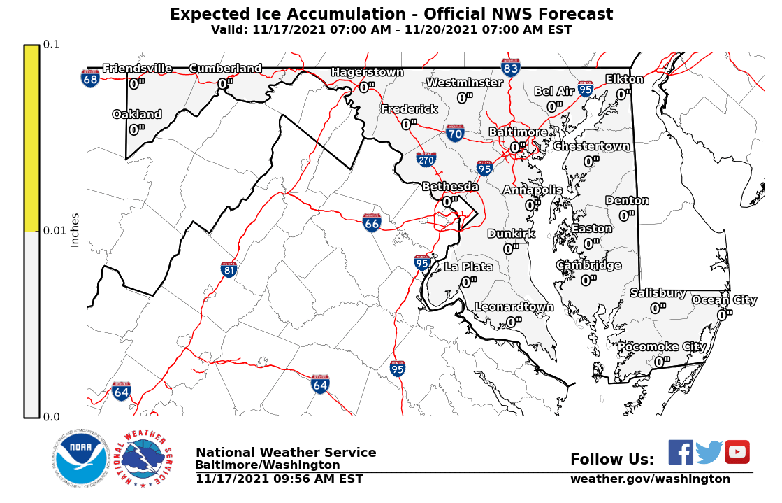 Maryland Ice Accumulation Forecast