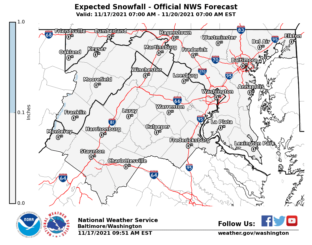 Expected Snowfall - NWS