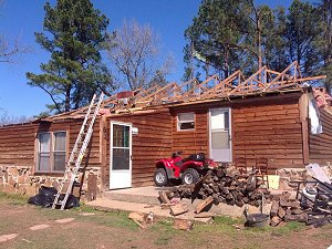 A roof was removed near Possum Grape (Jackson County).