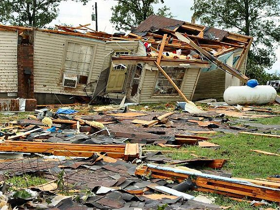 Homes/businesses were damaged and roads were flooded in central Arkansas following the remnants of Hurricanes Rita, Gustav, and Ike (2005 and 2008).