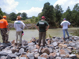 The USGS (United States Geological Survey) visited the site to get a closer look at what happened.
