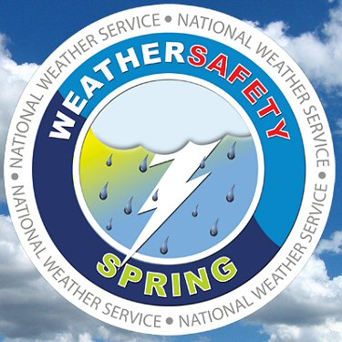 This is the Weather Safety Spring logo, and is a reminder to prepare now for severe weather.