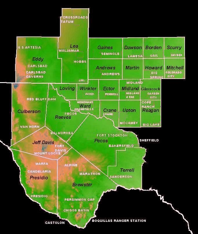 Map Of Texas New Mexico And Colorado.West Texas And Southeast New Mexico Winter Weather