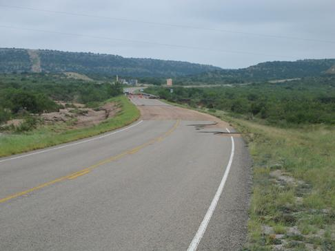 Photo of asphalt removed from Highway 349