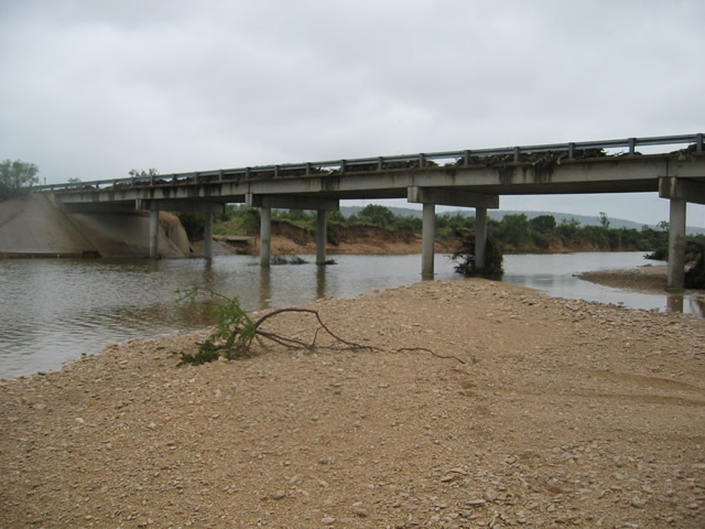 Debris on the Dry Creek Bridge