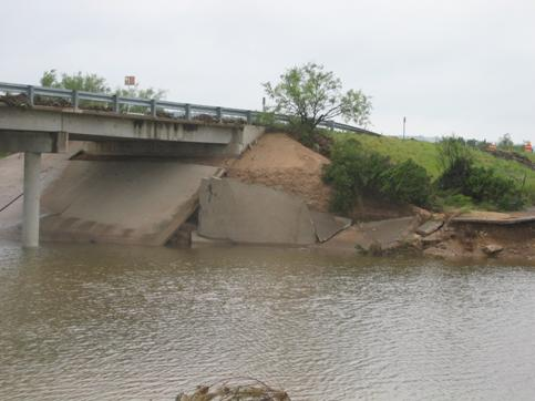 South side of Dry Creek Bridge