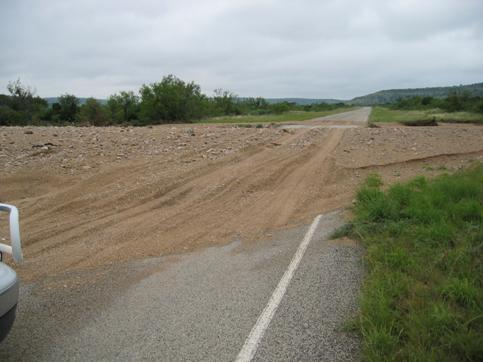 Photo of debris over Highway 349