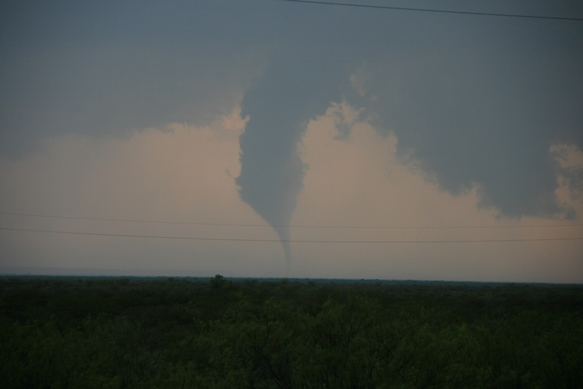 Image of the tornado at 7:02 pm CDT from Sheriff's Deputy Braydon Moore