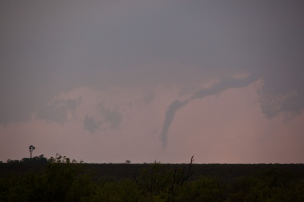 Image of the dissipating tornado aT 7:06 PM CDT from Mike Hardiman