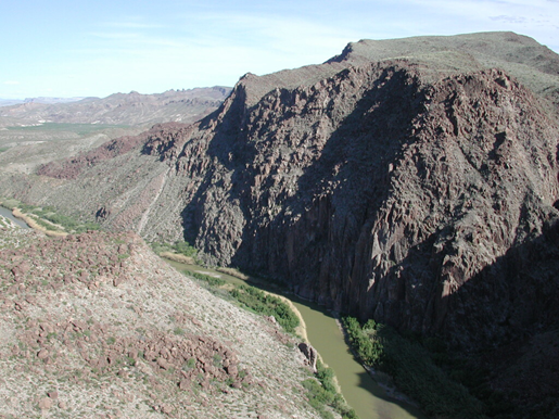 Rio Grande, looking downstream, from Big Hill