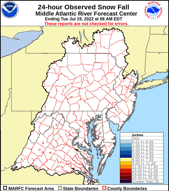Mu Weather Information Center Millersville University Dept Of - Snowfall-map-us