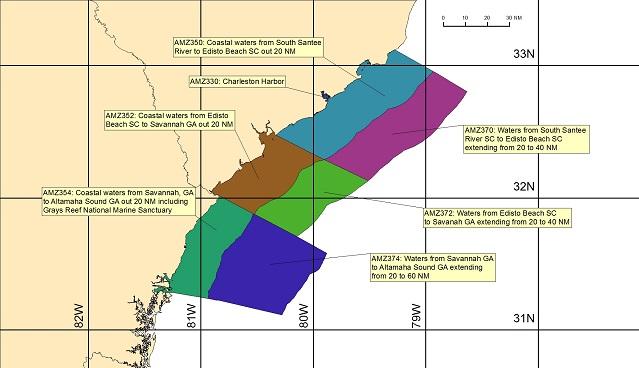Coastal Marine Forecasts By Zone Charleston Sc