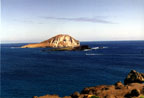 The Makapuu Point Lighthouse, located at the edge of the Oahu Sanctuary boundary, is a popular hiking spot and whale watching station. click image for more... (photo: Kellie Araki)