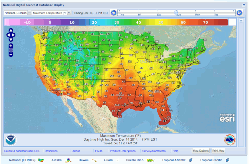Meteorological Development Laboratory - Us weather gov map
