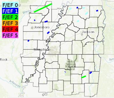 2018 Mid-South Tornado Summary