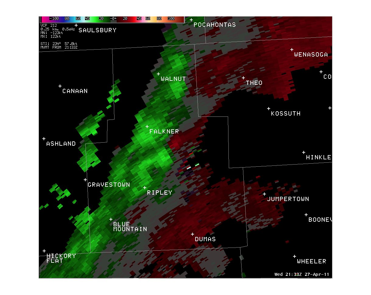 Mississippi tippah county ripley - Brief Tornado Across Central Tippah County