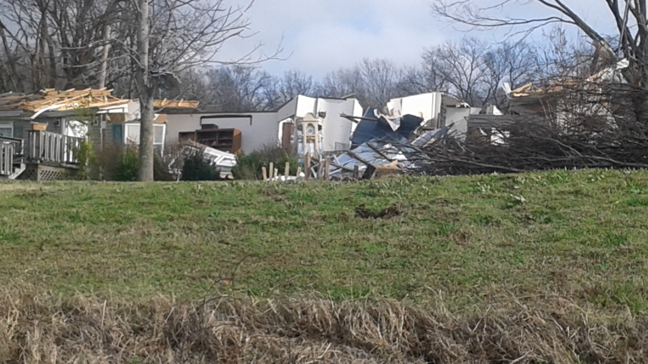 damaged home in Marianna Arkansas
