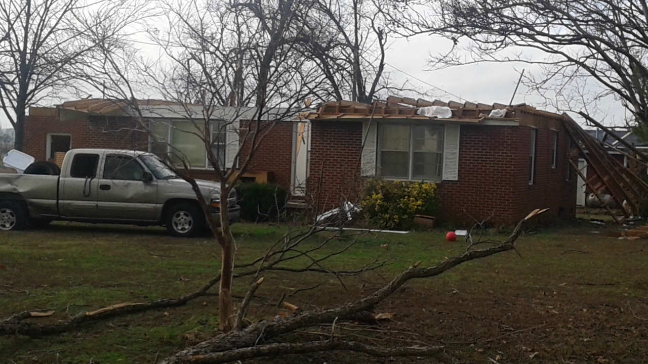 another damaged home in Marianna Arkansas