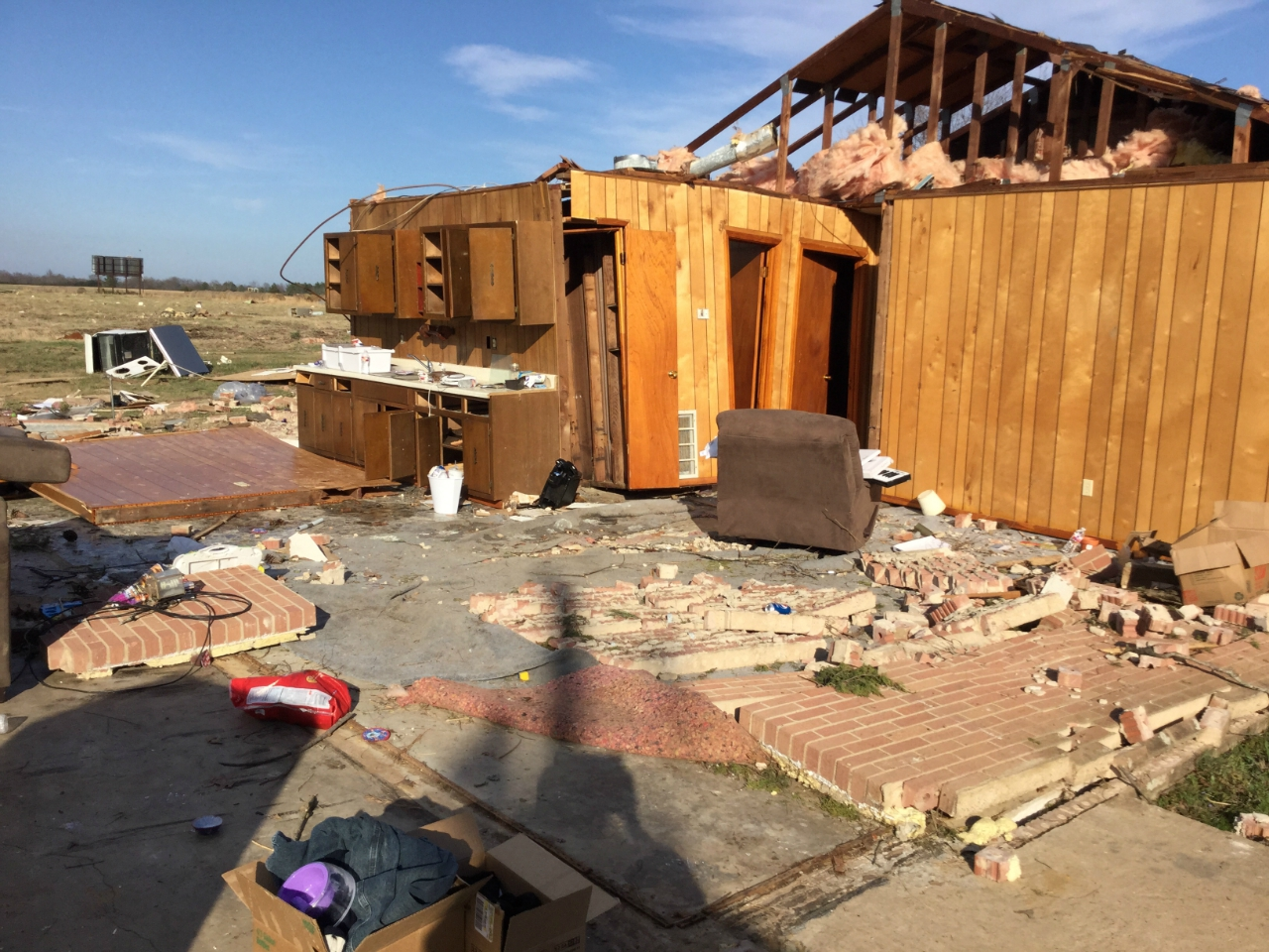 damage to house in Panola County
