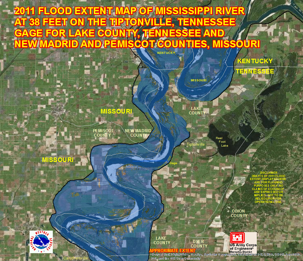 caruthersville river flood maps