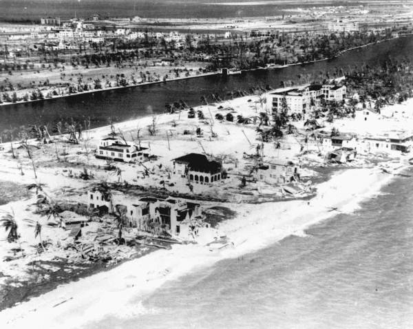Damage at Miami Beach after 1926 hurricane
